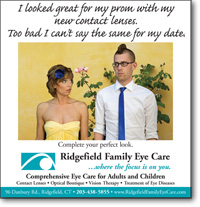 Ridgefield Family Eye Care Prom ad